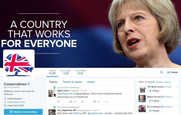The Labour, Tory & LibDem Twitter profiles tell us everything we